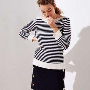 Loft Striped Boatneck Sweater